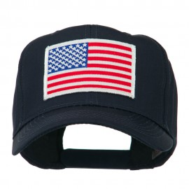 White American Flag Patched Cap - Navy