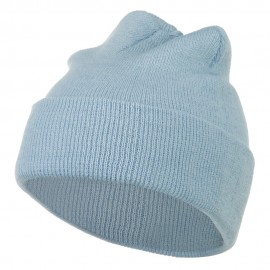 Super Stretch Knit Watch Cap Beanie - Columbia Blue