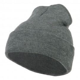 Super Stretch Knit Watch Cap Beanie - Light Grey