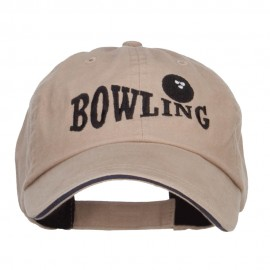 Bowling Ball Embroidered Canvas Cotton Cap