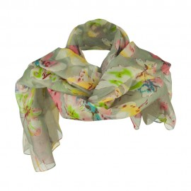 Watercolor Butterflies Summer Scarf - Grey