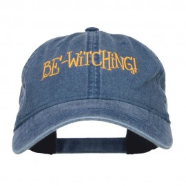 Bewitching Embroidered Washed Cap