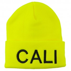 Cali Embroidered Neon Long Beanie