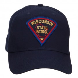 Wisconsin Police Seal Patched Cotton Twill Cap