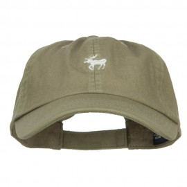 Mini Moose Embroidered Low Cap