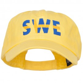 Sweden SWE Flag Embroidered Low Profile Cap