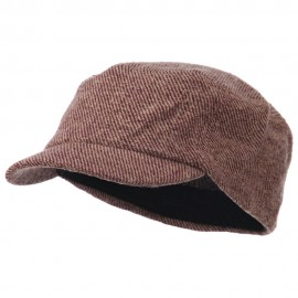 Wool Fashion Fitted Engineer Cap-Maroon