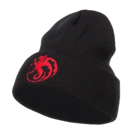 Wyvern Emblem Embroidered Long Beanie