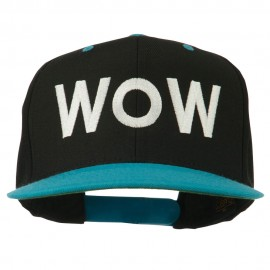 Wow Embroidered Snapback Cap