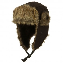 Winter Fur Trooper Hat - Brown