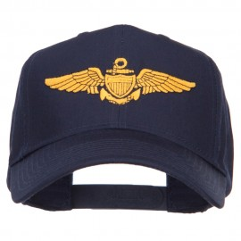 US Navy Wing Embroidered High Cap - Navy