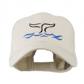 Whale Tail Outline Embroidered Cap