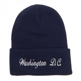 Washington DC Embroidered Long Beanie