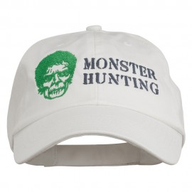 Halloween Monster Hunting Embroidered Washed Cap