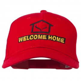 Welcome Home Embroidered Cotton Twill Cap