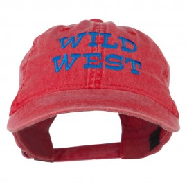 Wild West Embroidered Washed Cap