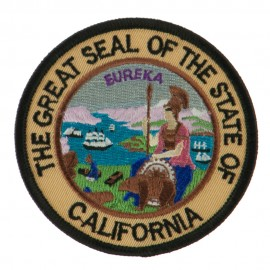 Western State Seal Embroidered Patch - California