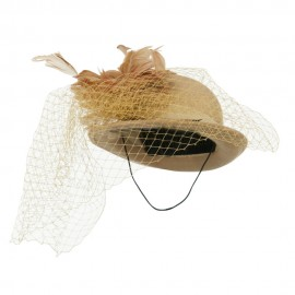 Mini Wool Bowler Fascinator