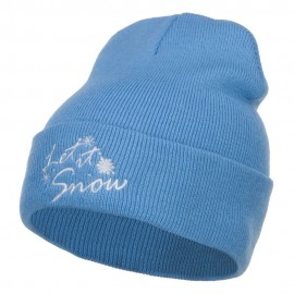 Let it Snow Embroidered Long Beanie