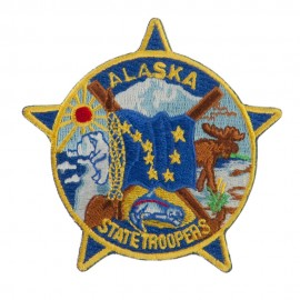 Western State Police Embroidered Patches