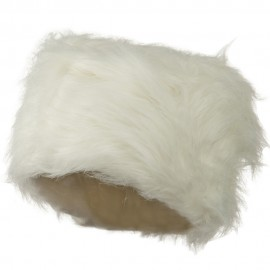 Woman's Faux Fur Bucket Hat - White