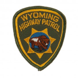 Western State Police Embroidered Patches - WY Hwy