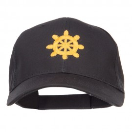 Captain Wheel Logo Embroidered Cotton Cap