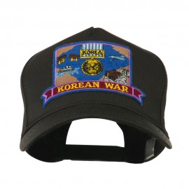 War and Operation Embroidered Military Patched Cap - Korean War