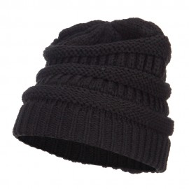 Women's Patterned Knit Beanie Cap
