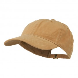 6 Panel Cotton Washed Cap - Caramel