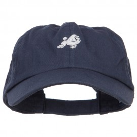 Poodle Dog Embroidered Low Cap