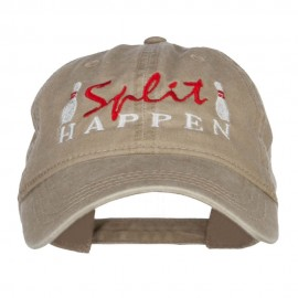Bowling Split Happen Embroidered Washed Cap
