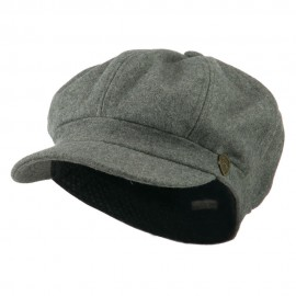 Wool Solid Spitfire Hat - Light Grey