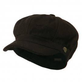 Wool Solid Spitfire Hat - Brown