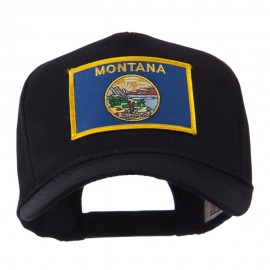 USA Western State Embroidered Patch Cap - Montana