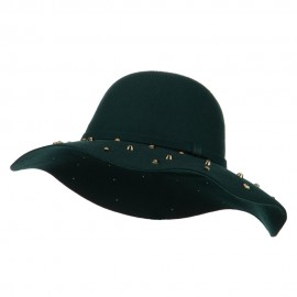 Wool Felt Studded Brim Hat