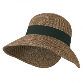 Women's UPF 50+ V Back Sun Hat - Black