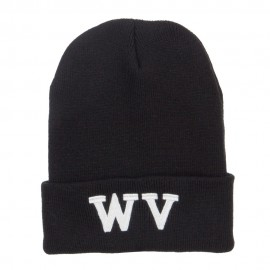 WV West Virginia Embroidered Long Beanie