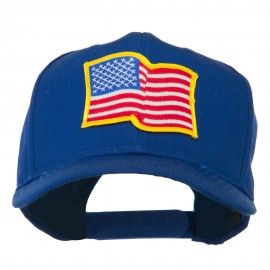 Wave American Flag Patched High Profile Cap
