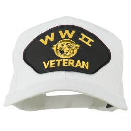 WW2 Veteran Military Patch Cap - White