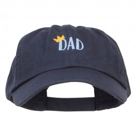 Crown Dad Embroidered Low Cap