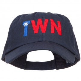 Taiwan TWN Flag Embroidered Low Profile Cap