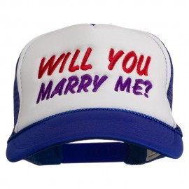 Will You Marry Me Embroidered Mesh Cap