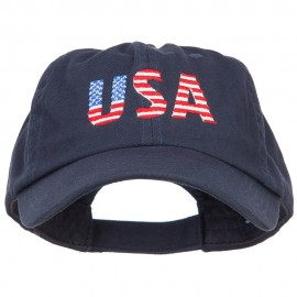 America USA Flag Embroidered Low Profile Cap