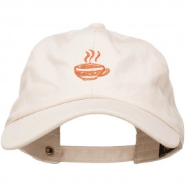 Coffee Cup Embroidered Unstructured Washed Cap