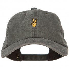 Mini Peace Hand Embroidered Unstructured Dyed Cap