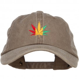 Rasta Leaf Embroidered Unstructured Cap