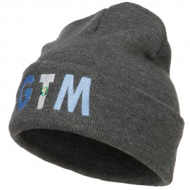 Guatemala GTM Flag Embroidered Long Beanie