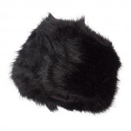Women's Faux Fur Hats - Black