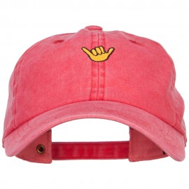 Mini Hang Loose Embroidered Unstructured Cap